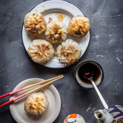 Pan-fried Chives Dumplings