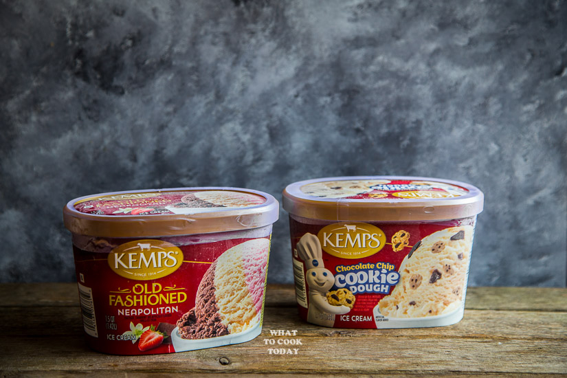 Kemps Neapolitan and Chocolate Cookie Dough Ice Cream #KempsLocallyCrafted #ad