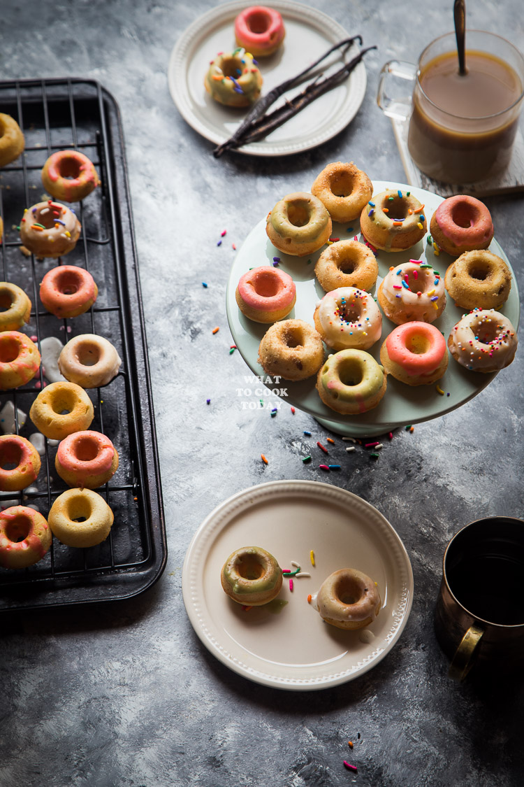 Vanilla Beans Mini Baked Donuts | What To Cook Today