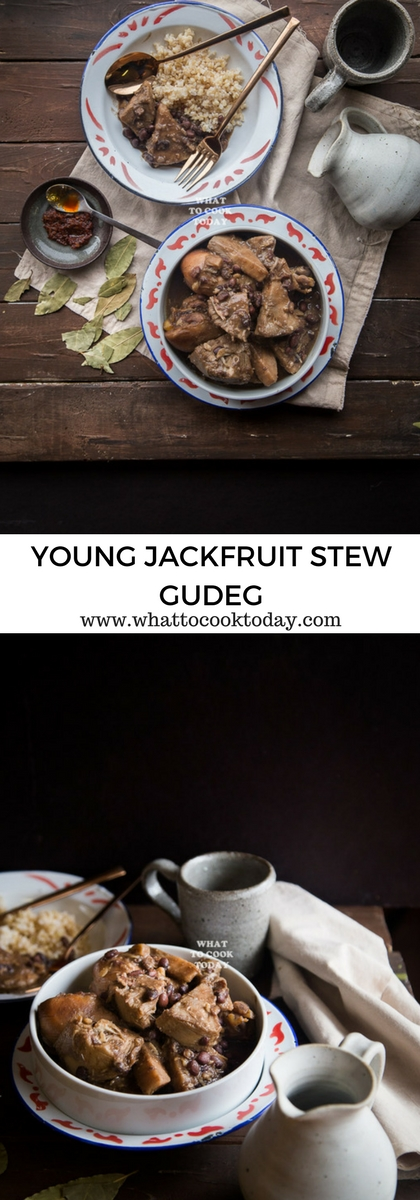How to make Gudeg / Young Jackfruit Stew. Delicious easy Indonesian Gudeg / Young Jackfruit Stew recipe. Click through for full recipe and step by step instructions