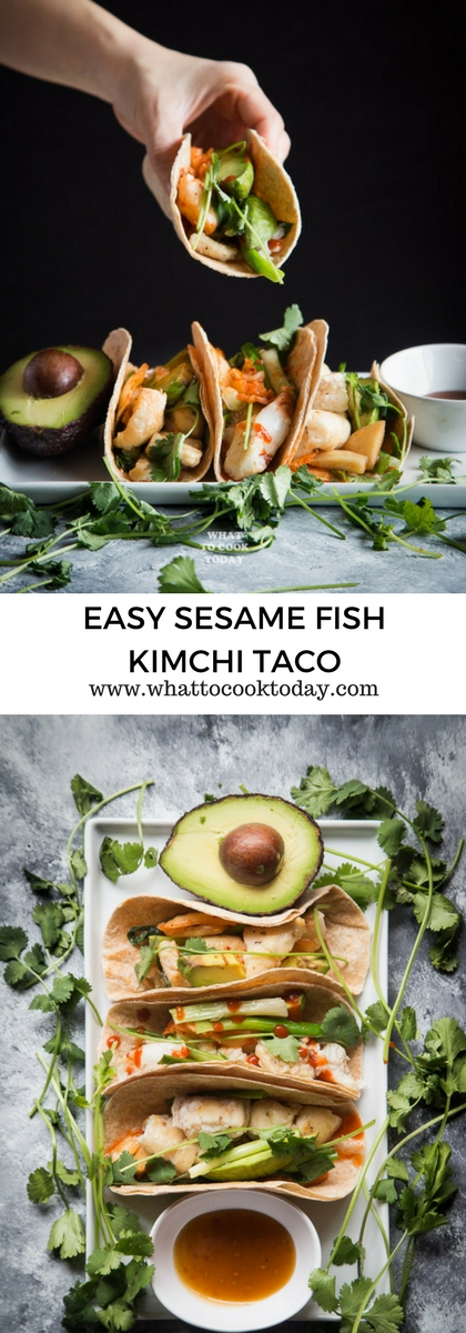 How to make Easy Sesame Fish Kimchi Taco. Delicious Easy Sesame Fish Kimchi Taco recipe. Click through for full recipe and step by step instructions #ad #SimpleSecret