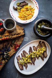 Dendeng Batokok / Indonesian spicy thin beef jerky