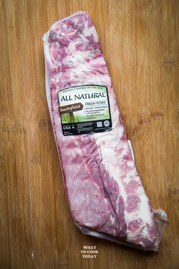 Smithfield All Natural Back Ribs #AllNaturalPork #ad