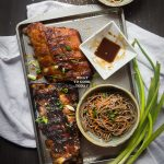 One-hour Miso Honey Pork Ribs with Soba Noodle Salad
