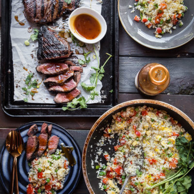 Kung Pao Steak and Cauliflower Fried Rice