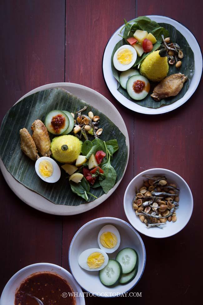 Nasi Tumpeng Mini (Indonesian Rice Cones)
