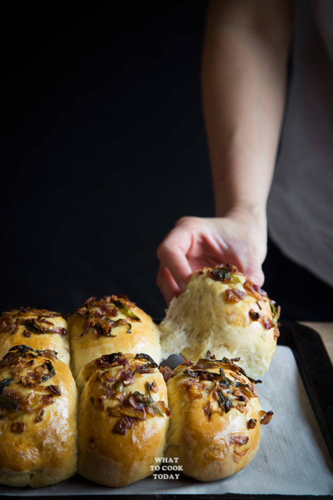 How to make Roti Bawang Medan (Caramelized onions baked buns). Click through for full recipe and step by step instructions