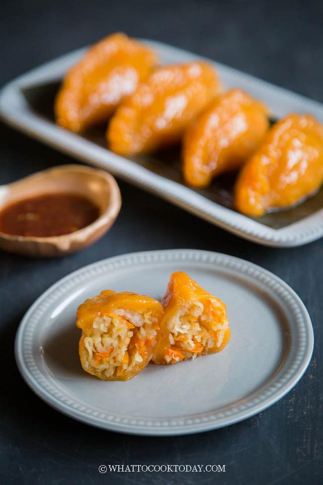 Chai Pau Ubi Medan / Chai Kueh (Steamed Vegetable Dumplings)