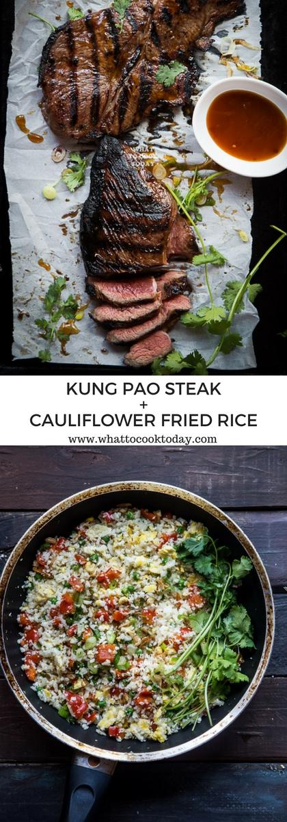 Kung Pao Steak and Cauliflower Fried Rice