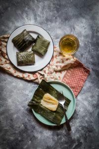 Kue Nagasari (Indonesian Rice Flour Cake with Banana)