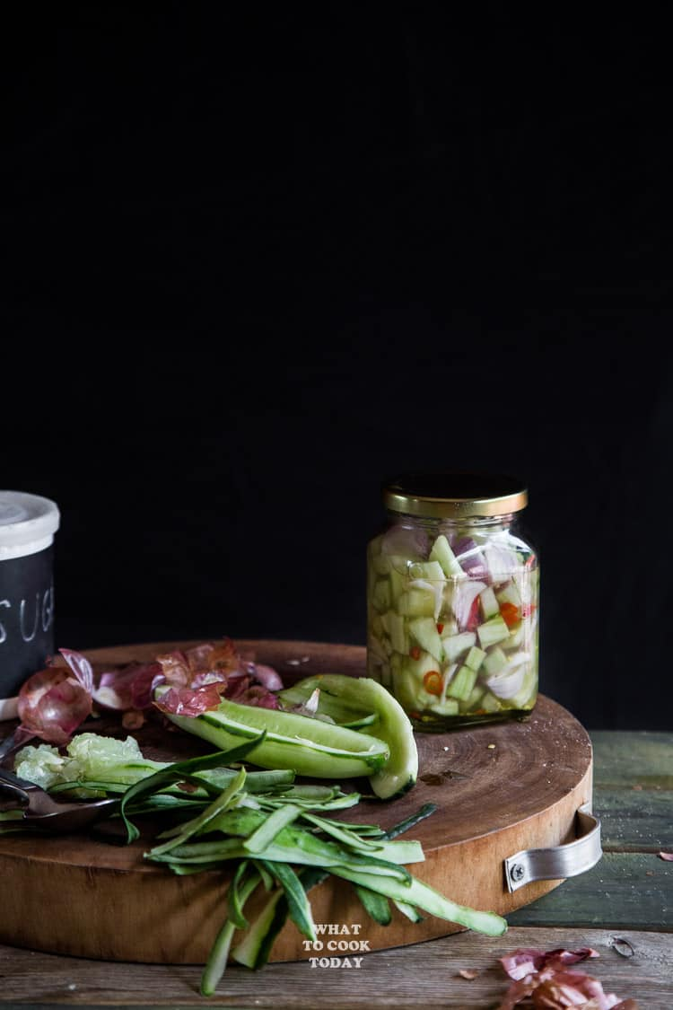 Acar Timun (Cucumber Pickles)