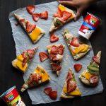 Super easy yogurt pizza dough and fruit pizza