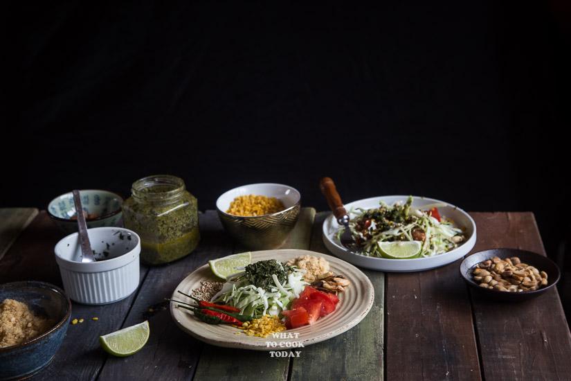 Lahpet Thoke (Burmese Pickled Tea Leaves Salad)
