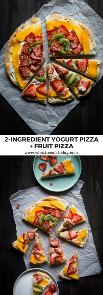2-ingredient yogurt pizza dough and fruit pizza