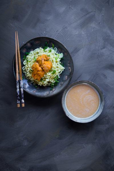 Sea Urchin Tsukemen (Dipping Noodle)