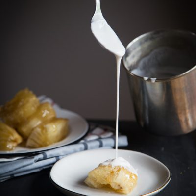 Singkong Thailand / Candied Cassava with Coconut Milk (Montad Chuame)