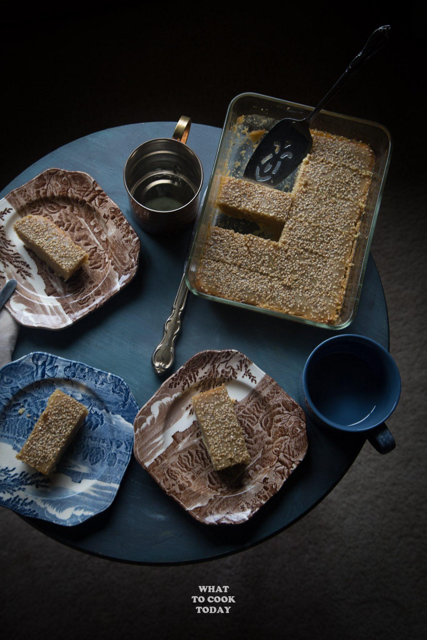 Burmese Semolina Cake (Shwe Gyi Sanwin Makin)