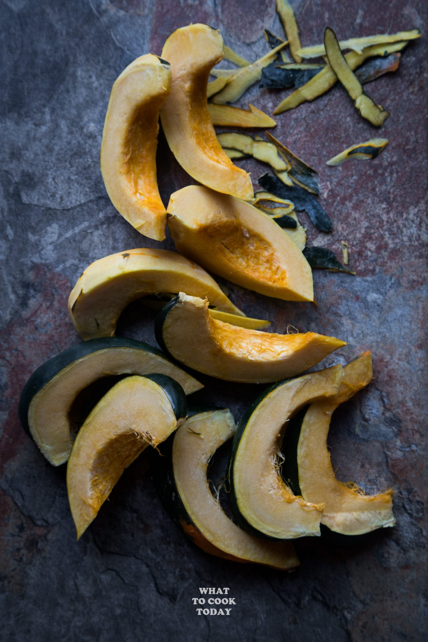 Acorn squash deseeded and cut into slices