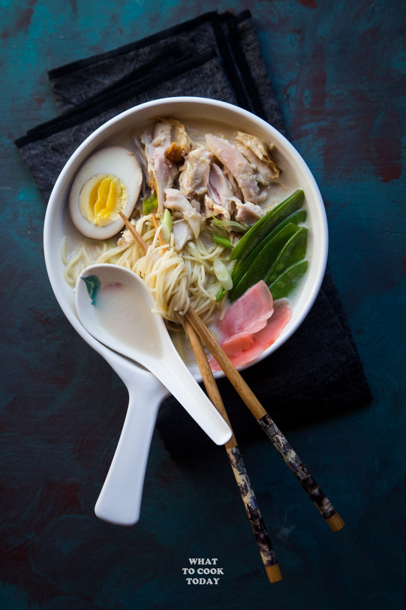 Leftover Turkey Miso Ginger Coconut Noodle Soup #thanksgivingleftover #turkey #noodlesoup #miso #coconutmilk