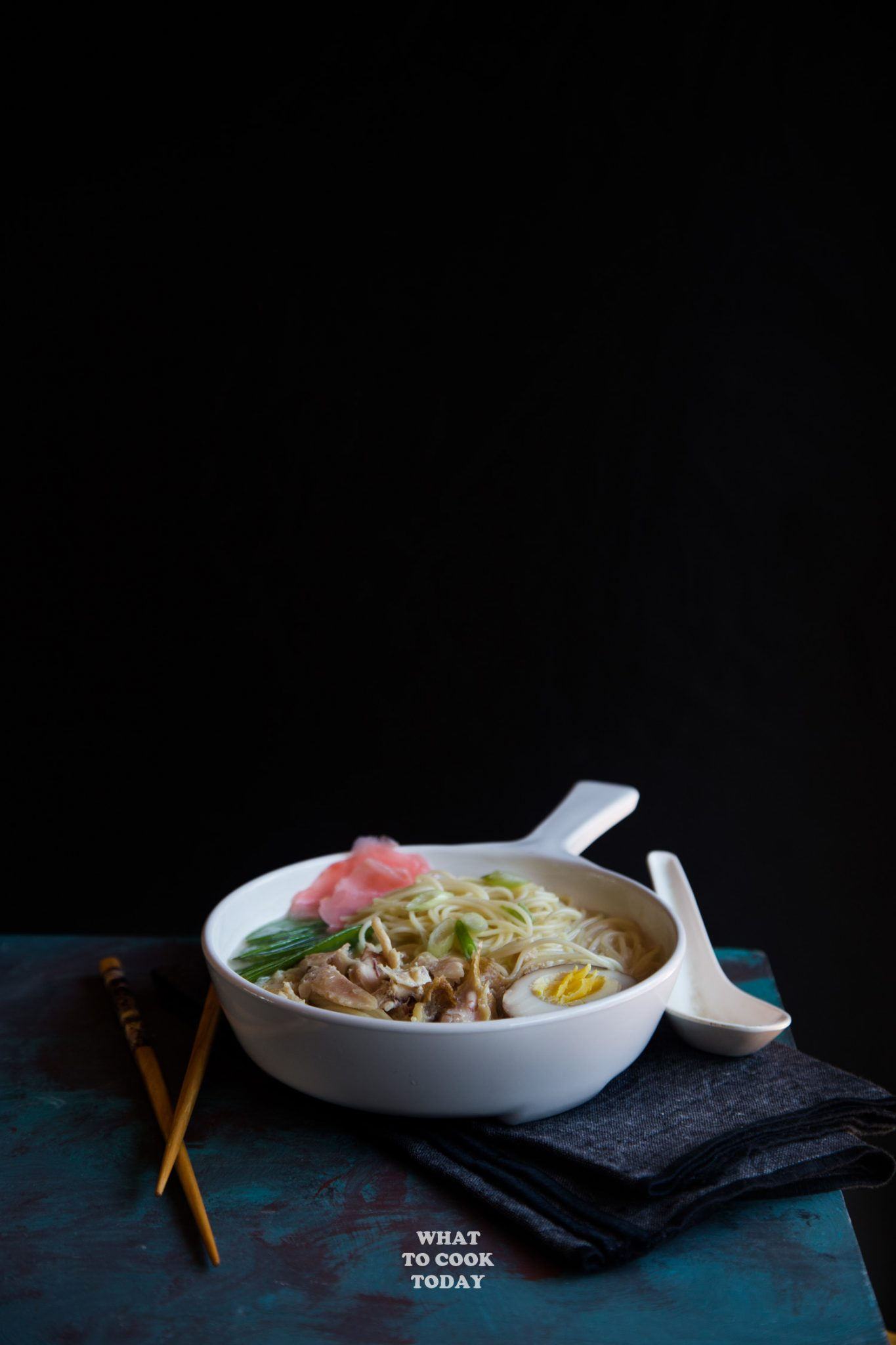 Leftover Turkey Miso Ginger Coconut Noodle Soup