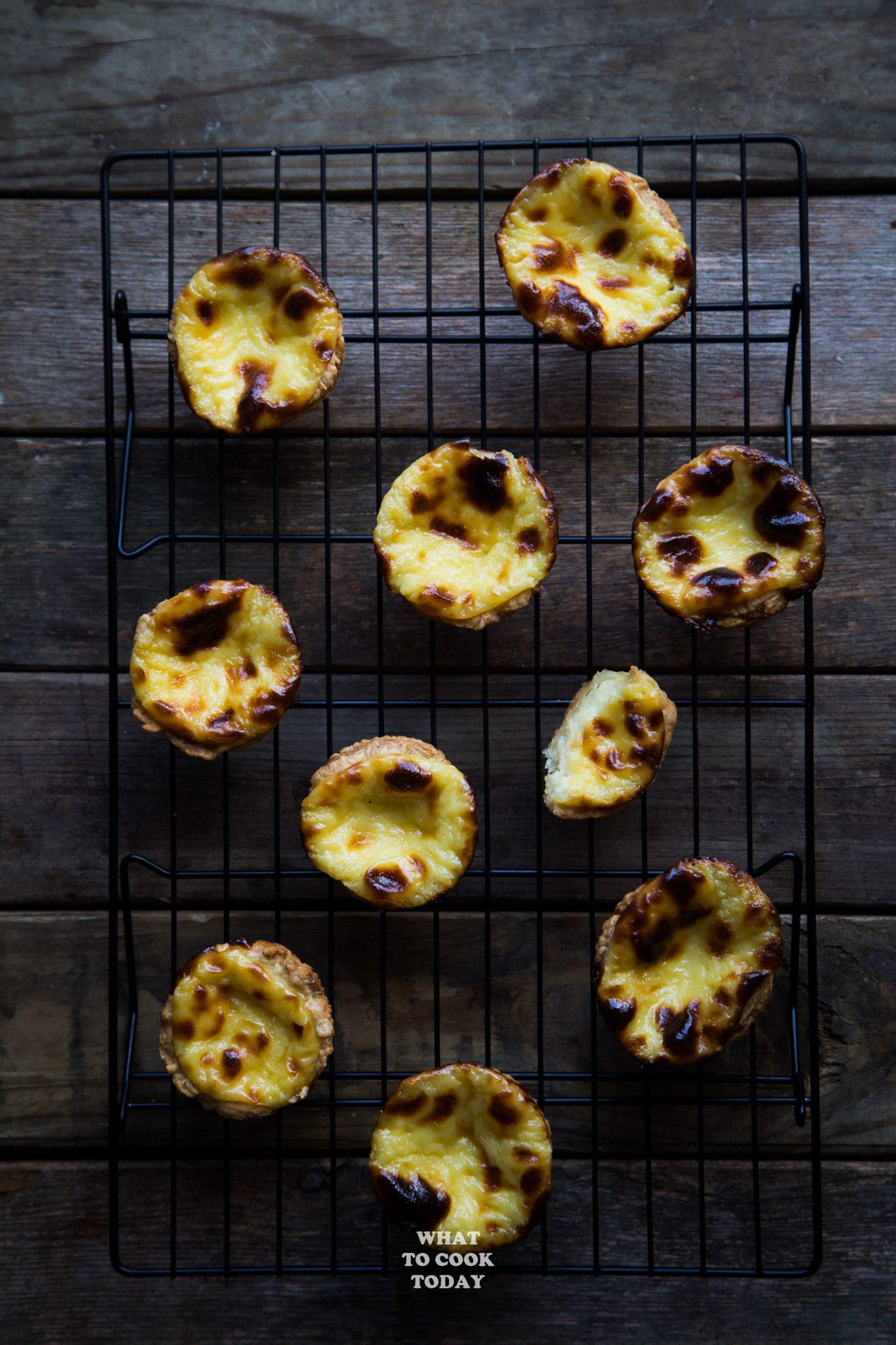 Easy Pasteis De Nata / Portuguese Egg Tarts #dessert #pasteisdenata #portugueseeggtarts