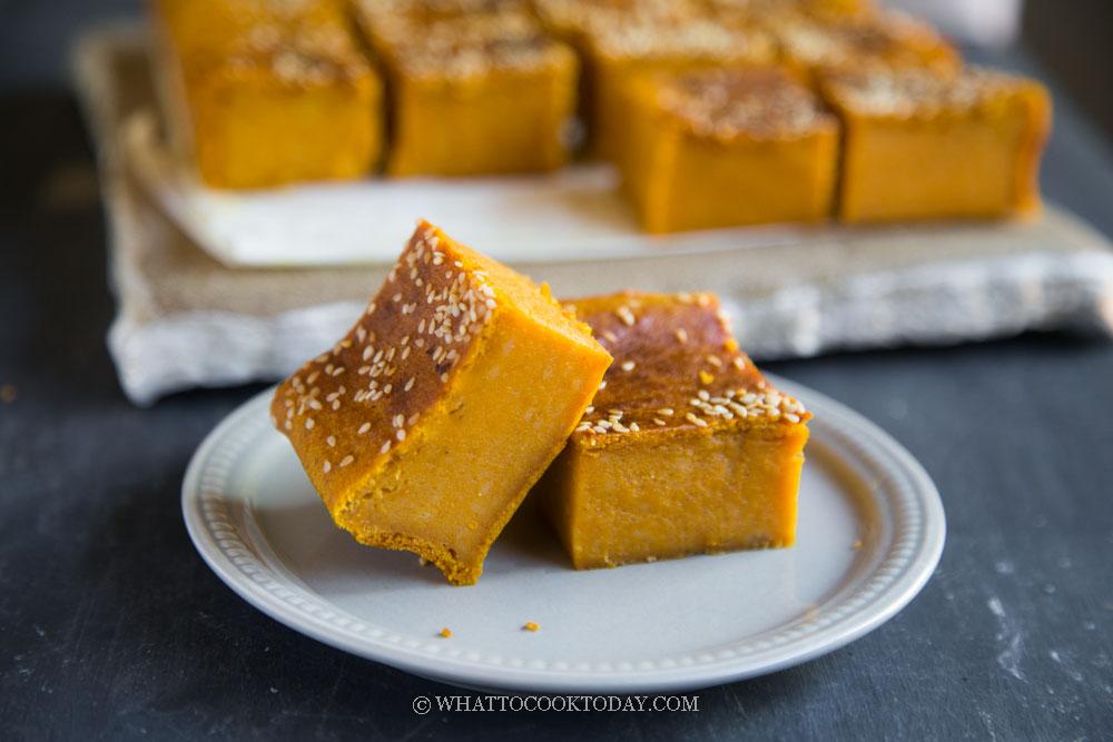 Bingka Labu Kuning Bakar (Malay Baked Pumpkin Cake)