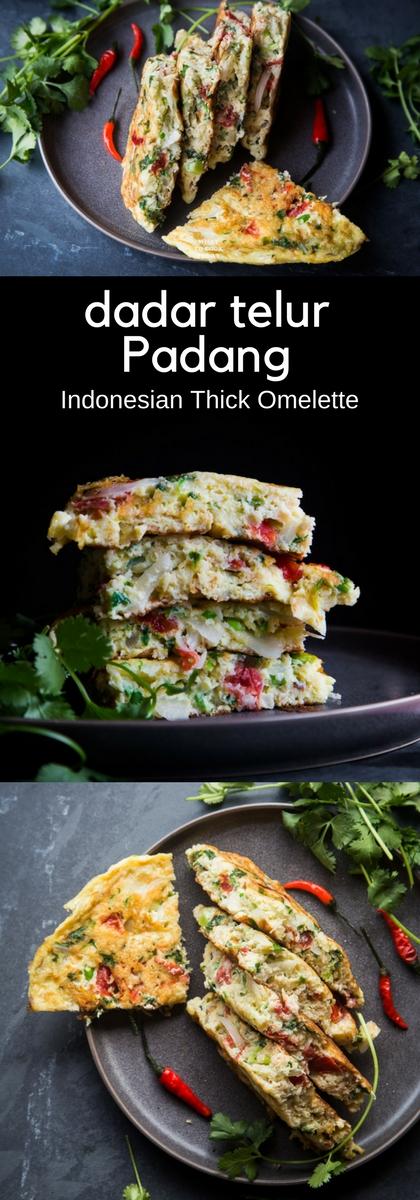 Dadar telur Padang (Indonesian thick omelette)