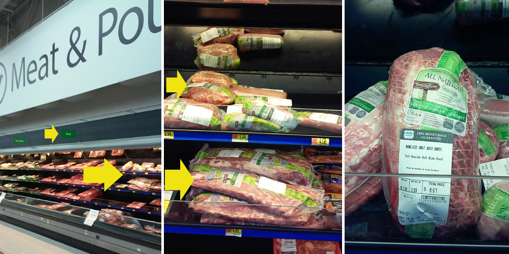 Smithfield all natural pork at Walmart