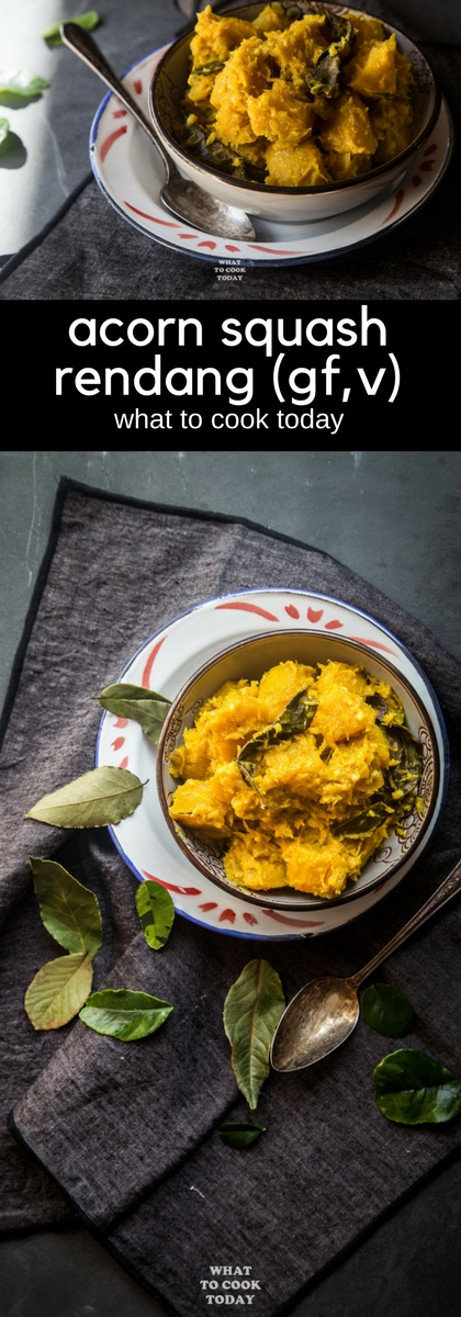 Acorn Squash Rendang #rendang #glutenfree #vegan #squash #recipe