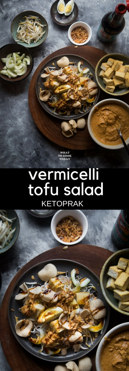 Ketoprak / Vermicelli tofu salad and peanut dressing