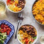 Barbacoa Pigeon Peas Rice Salad Bowl