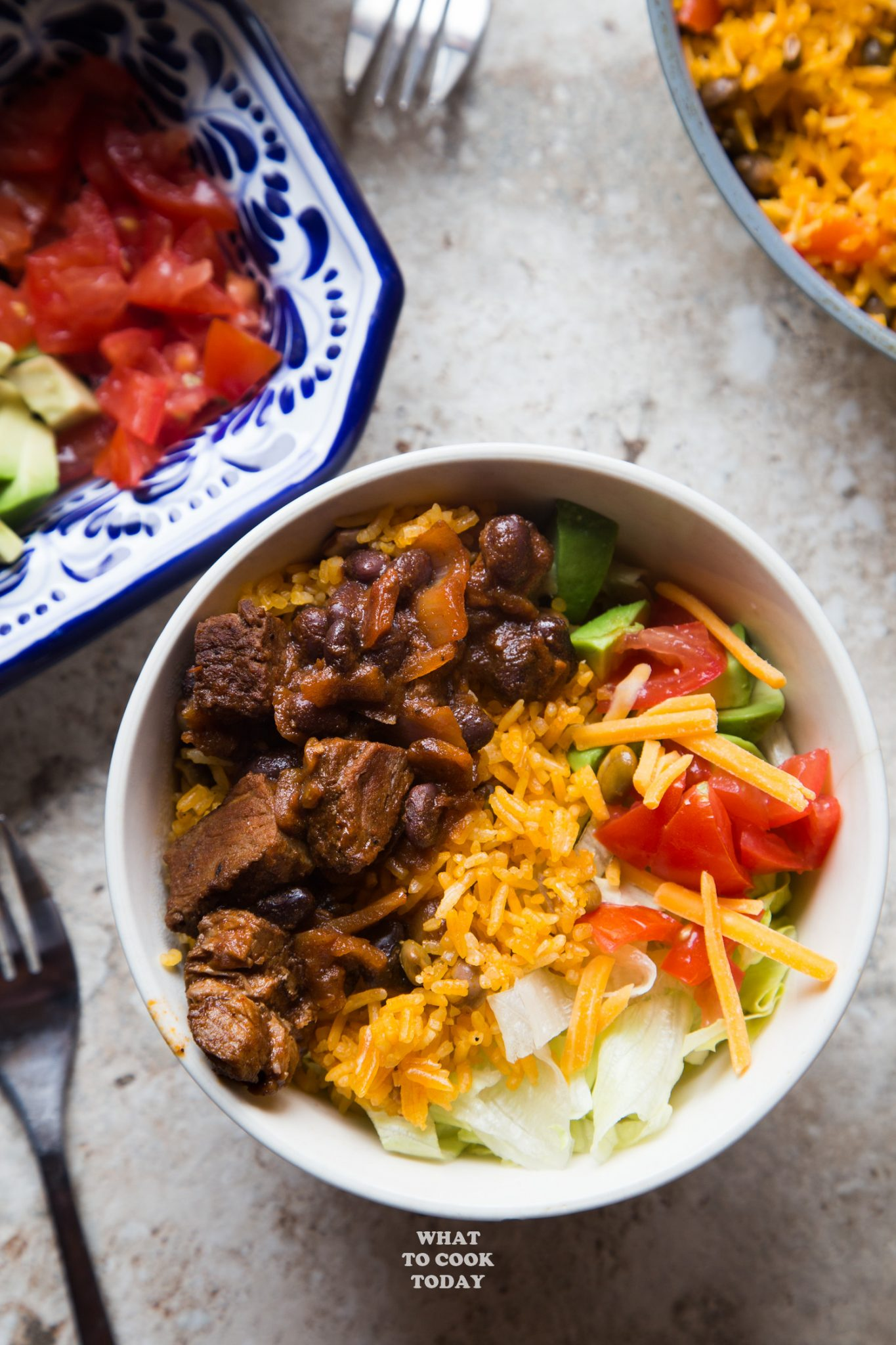 Barbacoa Pigeon Peas Rice Salad Bowl #ad #FronteraExperience