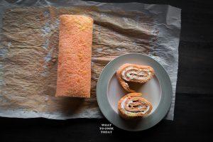 Pink Swiss Roll with Chocolate Ganache