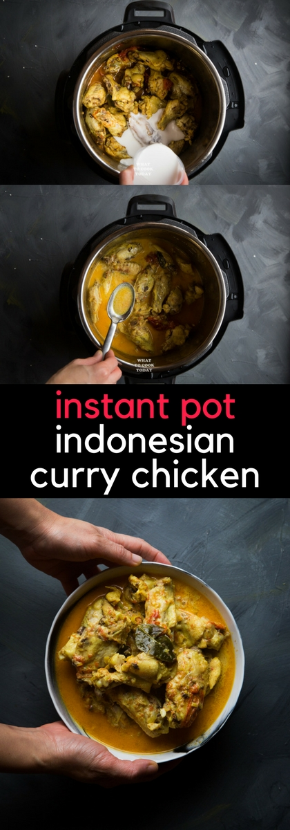 Instant Pot Indonesian Curry Chicken (Kari Ayam) #Instantpot #pressurecooking