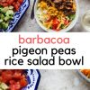 Barbacoa Pigeon Peas Rice Salad Bowl