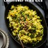 Turmeric Cauliflower Fried Rice #instantpot #caulirice #cauliflower #thanksgivingleftover