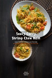 Saucy Curry Shrimp Chow Mein