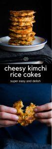 Cheesy Kimchi Rice Cakes