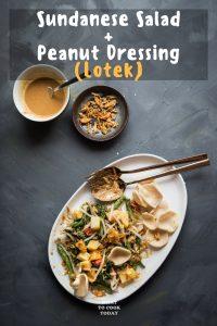 Lotek (Steamed Vegetable Salad with Peanut Dressing)