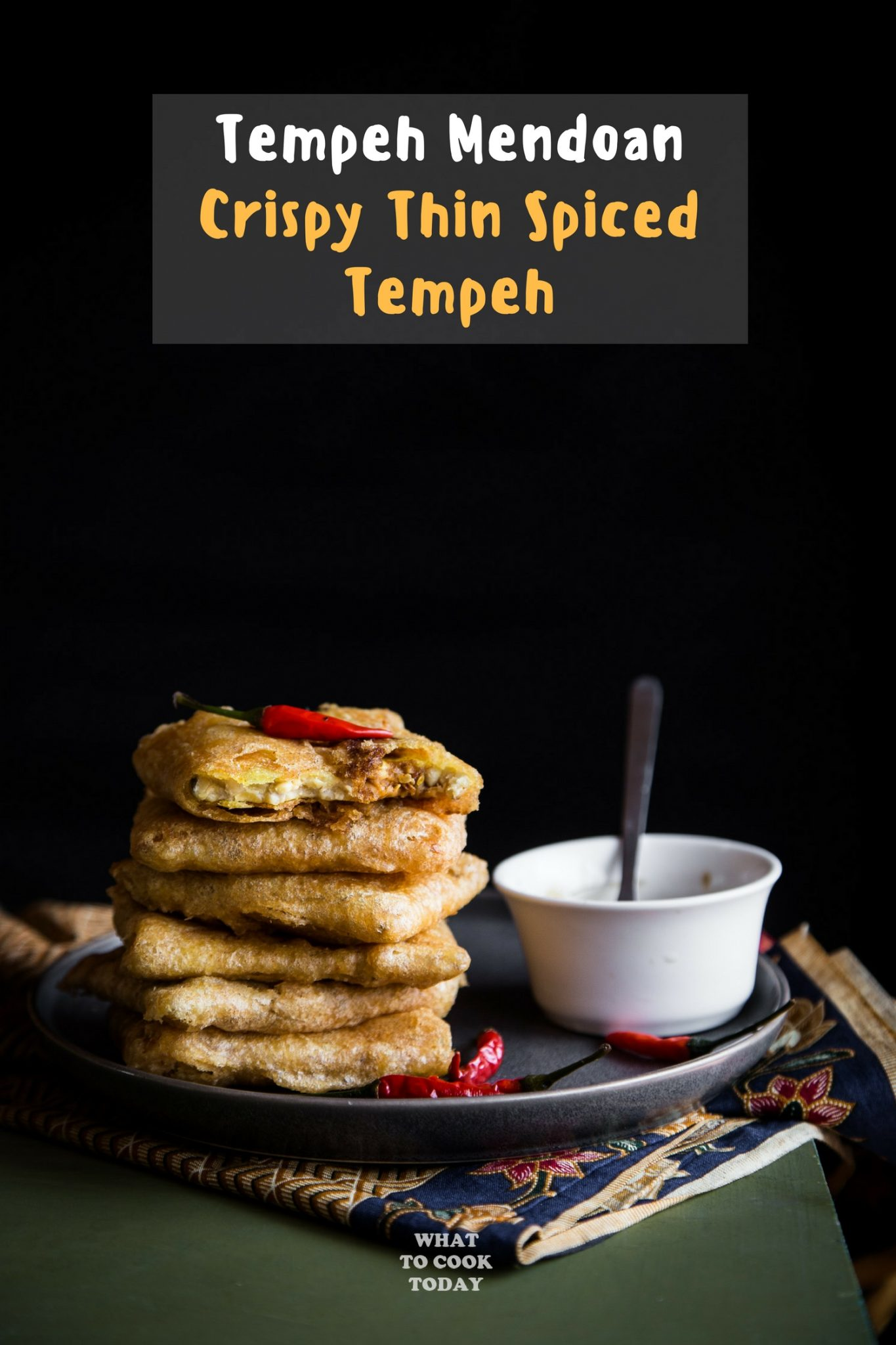 Tempe Mendoan / Crispy Thin Fried Tempeh #tempeh #snack #recipe #vegan