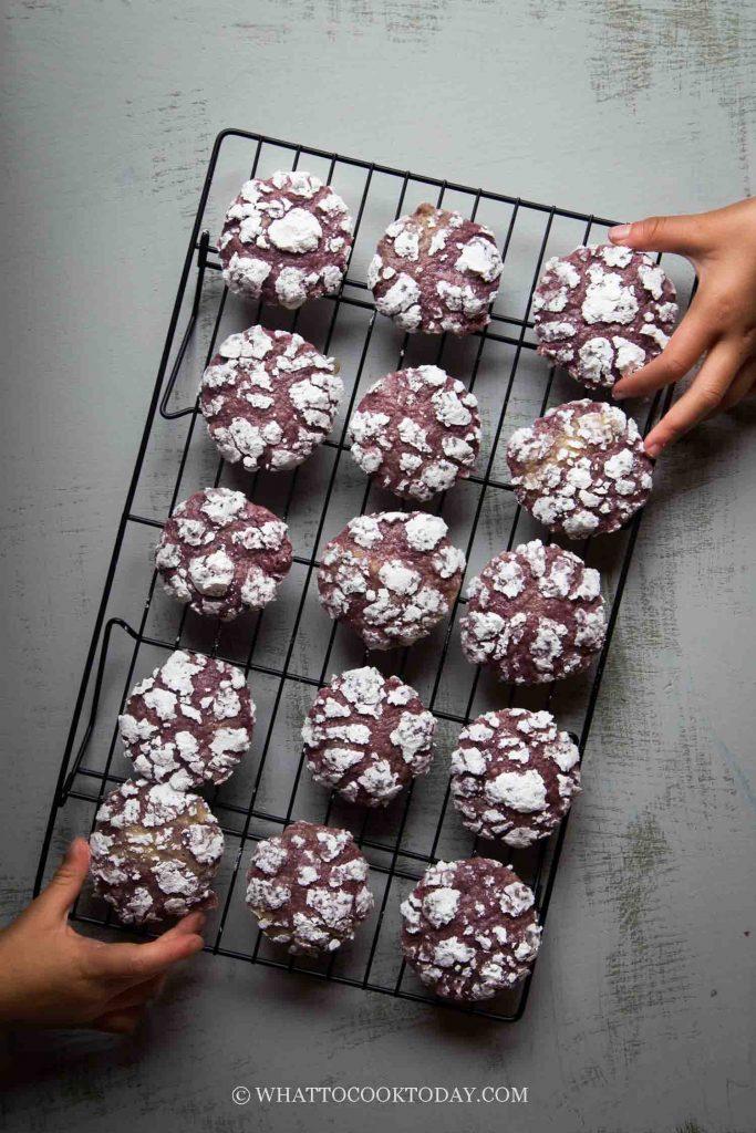 Amazingly Soft Ube Or Purple Sweet Potato Crinkle Cookies What To