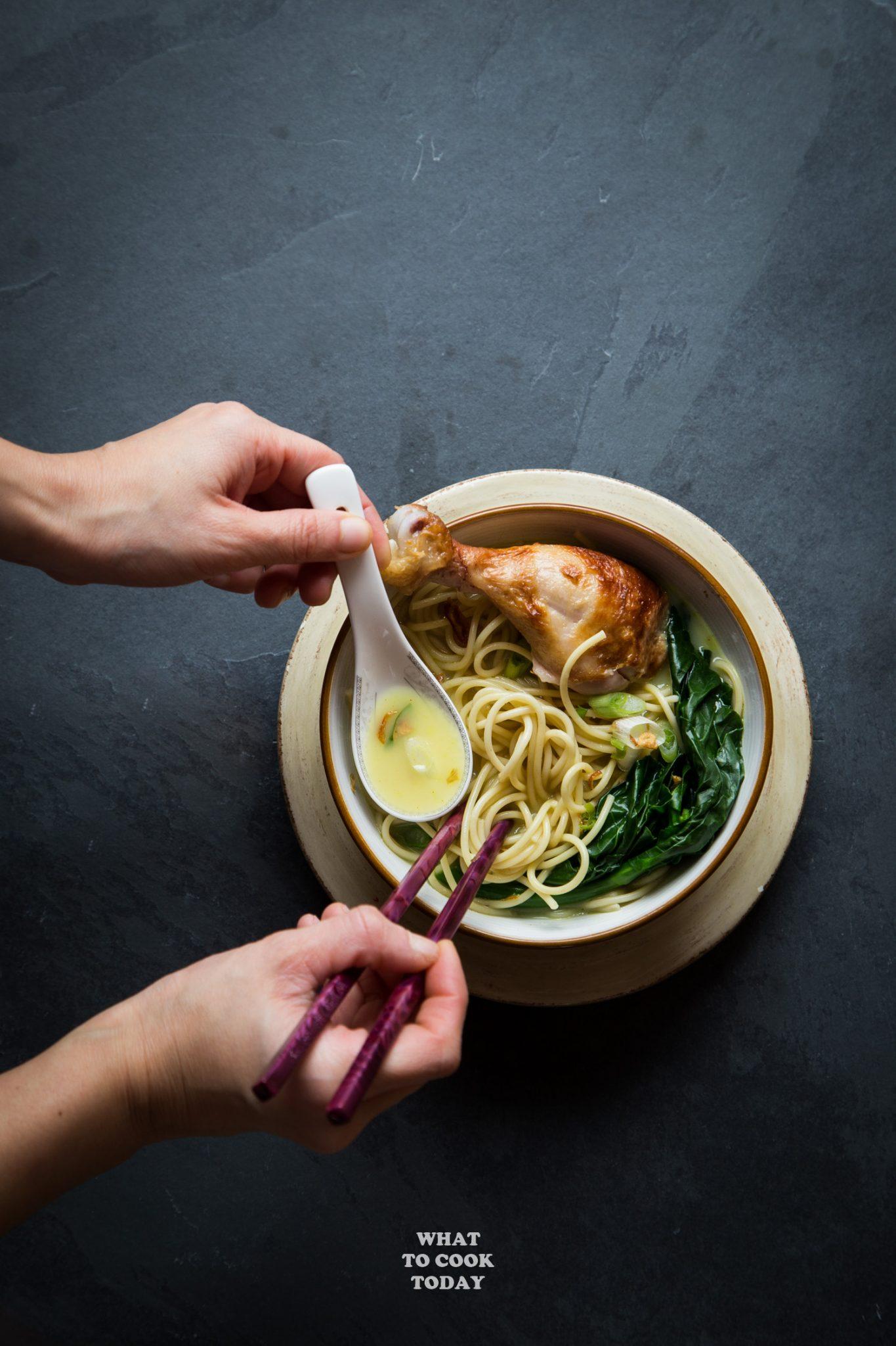 Speedy Rotisserie Chicken Noodle in Coconut Lemongrass Soup#rotisseriechicken #noodlesoup #lemongrass #easyrecipe