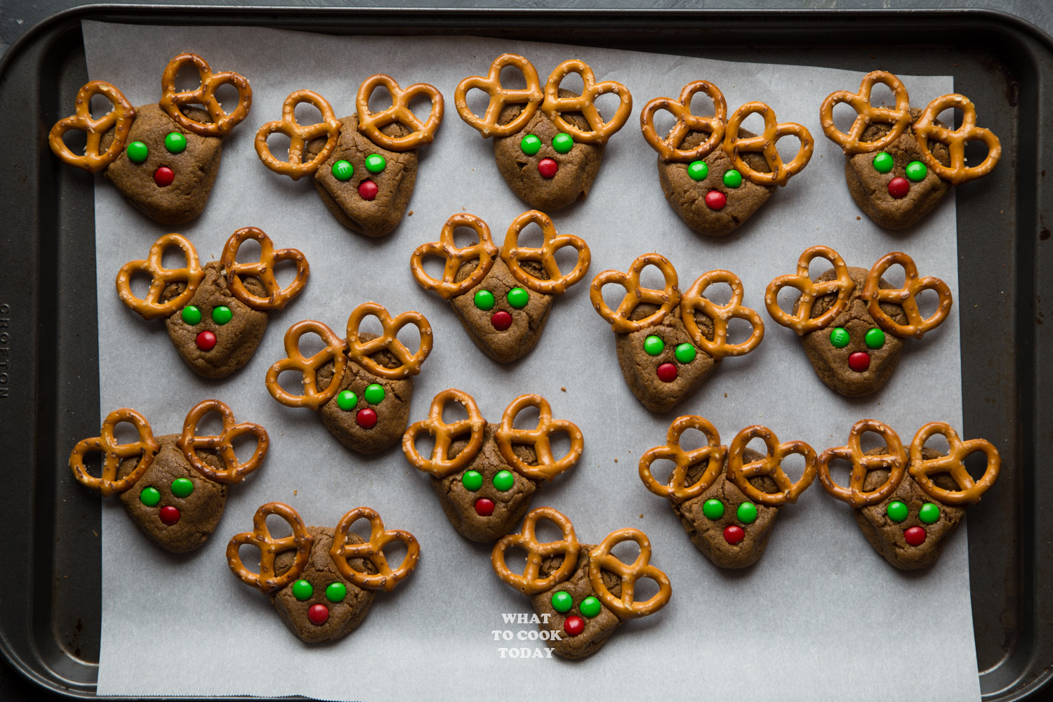 Coconut Oil Gingerbread Red Nosed Reindeer #gingerbread #christmas #cookies #reindeer #cutefood