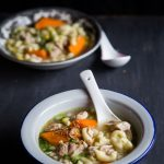 Super Easy Asian Chicken Macaroni Soup (Instant Pot or Stove-top)