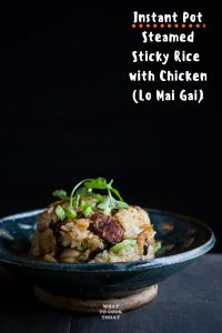 Easy Pressure Cooker Lo Mai Gai (Steamed Sticky Rice with Chicken)