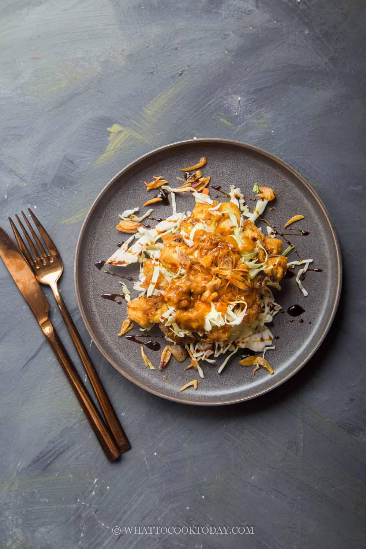 Tahu Telur / Tauhu Telur (Indonesian Tofu Omelette Salad)