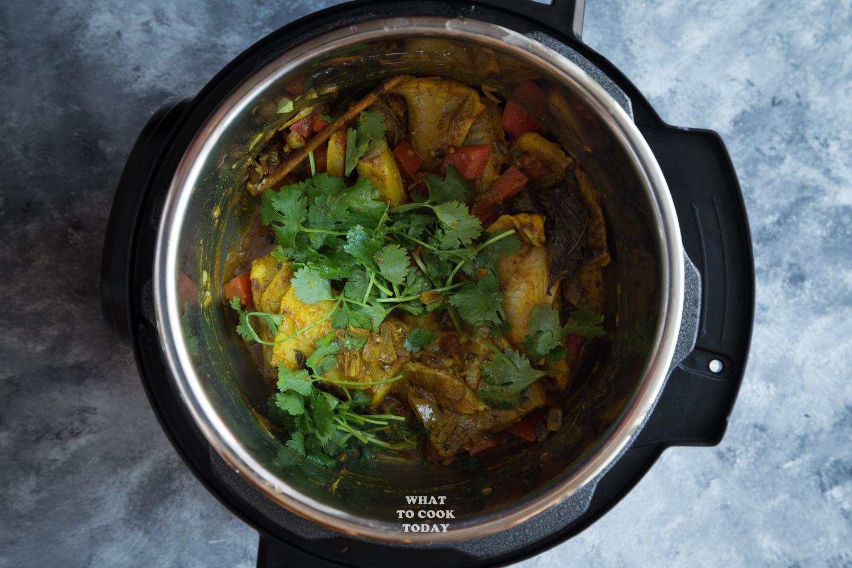Pressure Cooker Fish Biryani (with Brown Basmati Rice)