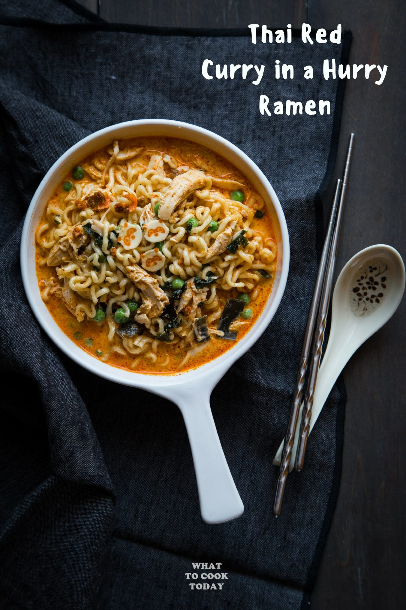 Thai Red Curry in a Hurry Ramen #ramen #curry #easyrecipes #noodles