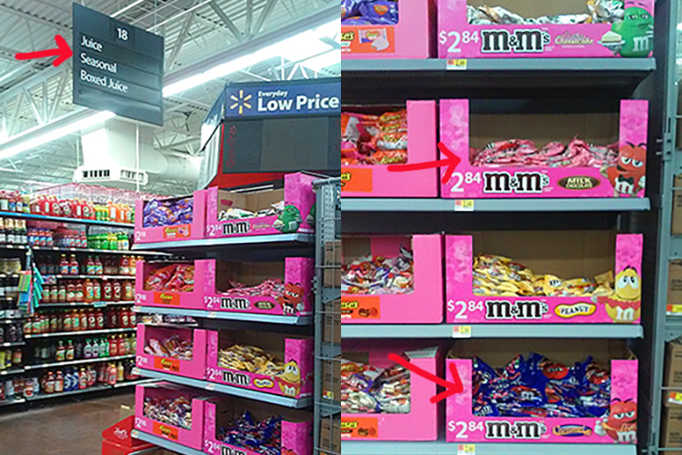 M&M Valentine's day at walmart