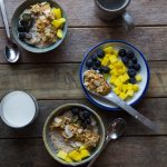 Quinoa Oats Porridge with Coconut Almond Crunch